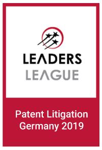 Leaders League: Patent Litigation Germany 2019
